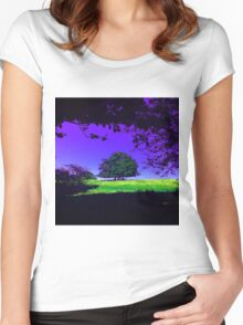 Lone Tree (LS.8) Women's Fitted Scoop T-Shirt