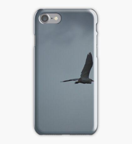 Flying Cattle Egret iPhone Case/Skin