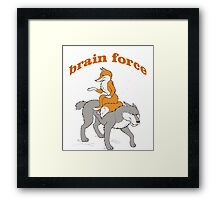 brain power Framed Print
