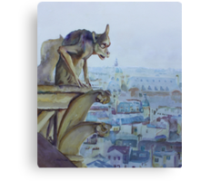 Hunchbacked Gargoyle Canvas Print