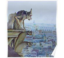 Hunchbacked Gargoyle Poster