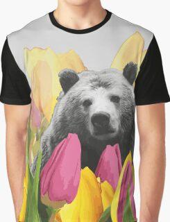 Bear Visits the Botanical Garden Graphic T-Shirt