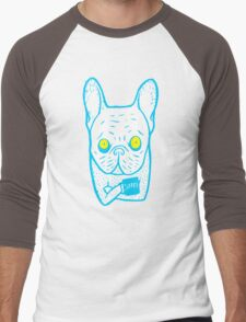 Coffee is Frenchie's best friend Men's Baseball ¾ T-Shirt