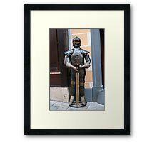 Knight armour. Framed Print