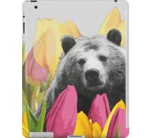 Bear Visits the Botanical Garden iPad Case/Skin