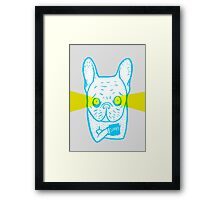 Coffee is Frenchie's best friend Framed Print