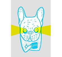 Coffee is Frenchie's best friend Photographic Print