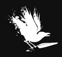 Cryptic Raven Logo - White by MadManAppeal
