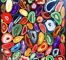 Garden of Agates, Stained Glass Mosaic by WonderMeMosaics
