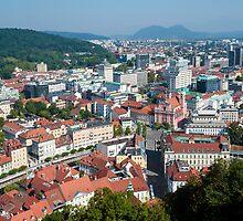 City of Ljubljana, Slovenia. by FER737NG
