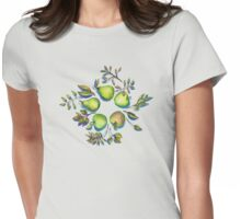 Summer's End - apples and pears Womens Fitted T-Shirt