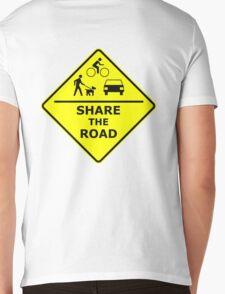Share the Road Mens V-Neck T-Shirt