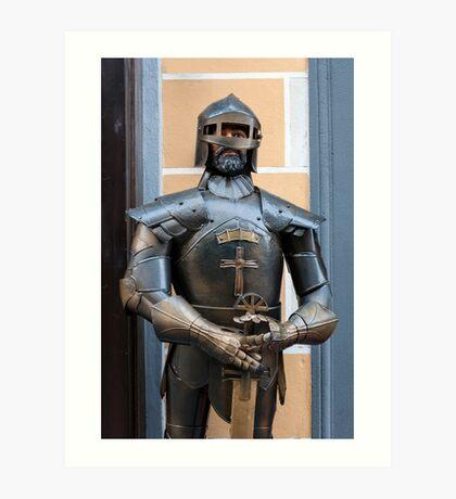 Knight armour. Art Print