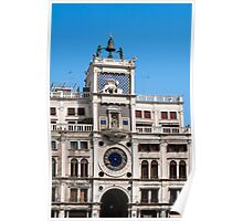 Clock tower building, Venice. Poster