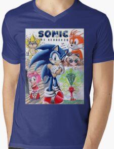 SONIC ADVENTURE!! Mens V-Neck T-Shirt