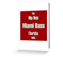 Miami bass white Greeting Card
