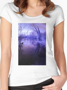Spooky waters Women's Fitted Scoop T-Shirt