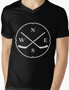 HOCKEY COMPASS Mens V-Neck T-Shirt