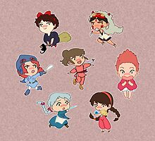 Studio Ghibli Heroines Tote Bag Pink by diggles