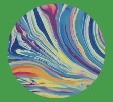 rainbow swirl Kids Tee