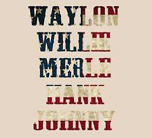best Waylon Jennings Willie Nelson Merle Haggard Hank Williams Johnny Cash  Unisex T-Shirt
