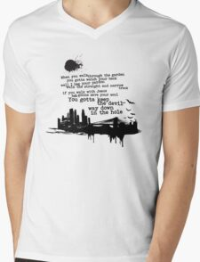 """""""Way Down In The Hole"""" - The Wire - Dark Mens V-Neck T-Shirt"""