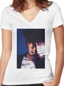 EXO CHANYEOL - MONSTER Women's Fitted V-Neck T-Shirt