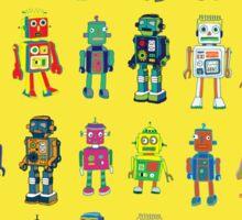 Robot Line-up on Yellow Sticker
