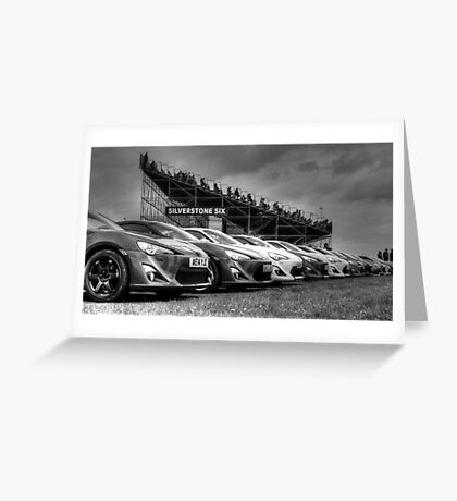 Toyota Line Up Greeting Card