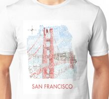 San Francisco Golden Gate Neighborhood Map Unisex T-Shirt