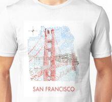 San Francisco Golden Gate Neighborhood Map Unisex T-Shirt