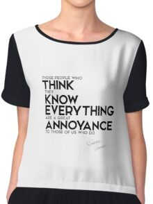 think they know everything - isaac asimov Chiffon Top