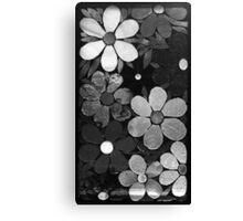 Black & White Garden of Flowers, Mosaic Canvas Print