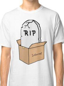 R.I.P internet Box [NO TEXT] Classic T-Shirt