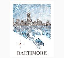 Baltimore City Skyline Neighborhood Map Unisex T-Shirt
