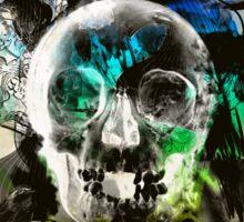 skull explosion Sticker