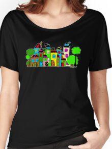Stadt mit Haus und Baum Women's Relaxed Fit T-Shirt