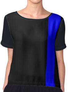 Thin Blue Line Chiffon Top