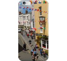Looking Down at Life on the Street at Tenby, Wales iPhone Case/Skin