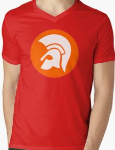 "Trojan Records 6 "" logo "" Mens V-Neck T-Shirt"