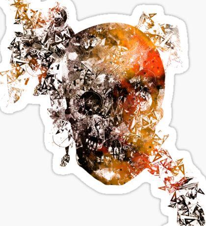 skull crystallisation Sticker