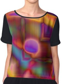 Geometry and Color Chiffon Top