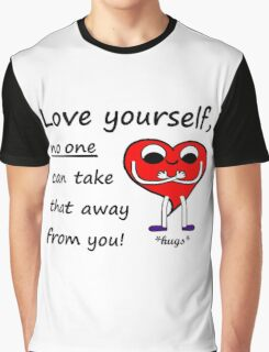 Love Yourself - Cute Mr Heart Motivation Be Happy Graphic T-Shirt