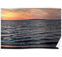 Sunset Slave Lake  Poster