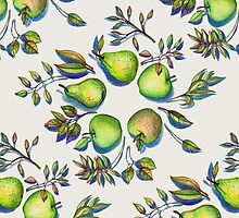 Summer's End - apples and pears by micklyn