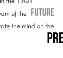Concentrate on the present moment - Buddha Sticker