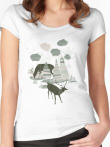 magic mountains Women's Fitted Scoop T-Shirt