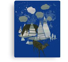magic mountains Canvas Print