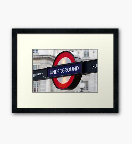The Underground Framed Print