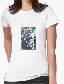 denim blue Womens Fitted T-Shirt